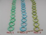 ss018  Five strands 25mm orbicular shell beads wholesale, different color