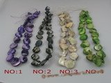 ss021 nugget shape shell strands wholesale, different color