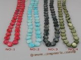 ss025 five strands 10mm coin shape shell beads strands wholesale