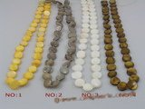 ss026 five strands 10mm coin shape shell beads strands wholesale
