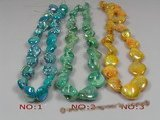 ss034 nugget shape shell strands wholesale, different color