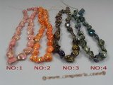 ss035 nugget shape shell strands wholesale, different color