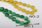 ss039 Five strands 18mm coin shape shell strand wholesale