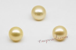 ssp10-11mm Wholesale 10-11mm AA grade south sea loose pearl in nature  golden color