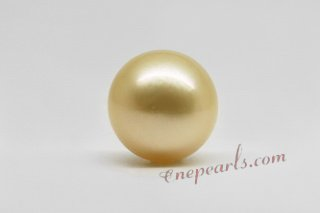 ssp10-11mm Wholesale 10-11mm AA grade south sea loose pearl in golden color
