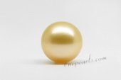 ssp9-10mm Wholesale nature golden color 9-10mm south sea loose pearl,AA grade