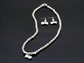 Stcset006 Fantastic Hand Knotted Cultured Pearl Princess Necklace