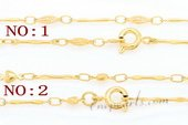 Stnc001 16inch Gold toned Copper Pendant Chain, Bag of 5