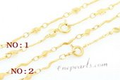 Stnc002 Gold toned Copper Jewelry Chain in 16inch, Bag of 5
