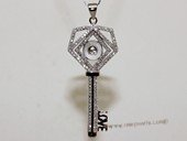 stp159 Sterling Silver Sparkling Zircon Pendant Tail For Jewelry Marking