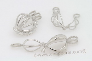 Swpm001 Sterling silver Wish pearl pendants (cages) wholesale