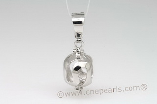 Swpm004 Wholesale Sterling Silver Wish Pearl Cage Pendants