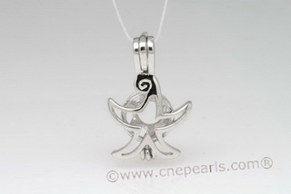 Swpm005 Sterling Silver Designer wish pearl pendant&cages wholesale