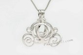 Swpm008 Wholesale Carriage Design Cage Pendant in Sterling Silver
