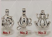 Swpm012 Sterling silver Wish pearl pendants (cages) wholesale