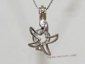 Swpm020 Small Size Sterling Silver Designer wish pearl pendant&cages wholesale