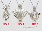 Swpm030 Sterling silver Wish pearl pendants (cages) wholesale