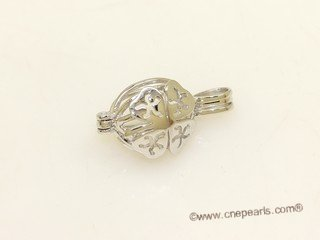 Swpm035 Wholesale  Sterling Silver Four Leaf Cage Pendant