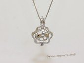 Swpm045 Wholesale Paw Print Design Cage Pendant in Sterling Silver