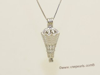 Swpm055 Sterling silver Wish pearl pendants (cages) wholesale