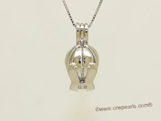 Swpm056 Sterling silver Wish pearl pendants (cages) wholesale