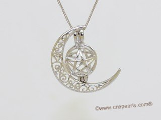 Swpm059 Sterling silver Wish pearl pendants (cages) wholesale