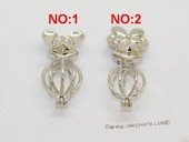 Swpm062 Sterling silver Wish pearl pendants (cages) wholesale