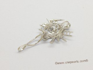 Swpm064 Wholesale Firefighter Tools Design Cage Pendant in Sterling Silver