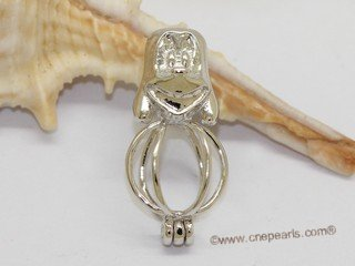 Swpm065 Wholesale Cartoon Mouse Design Cage Pendant in Sterling Silver