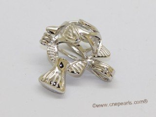 Swpm066 Wholesale Fish Design Cage Pendant in Sterling Silver