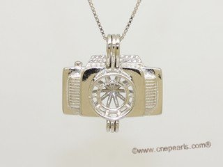 Swpm067 Wholesale  Camera Design Cage Pendant in Sterling Silver