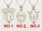 Swpm069 Sterling silver Wish pearl pendants (cages) wholesale
