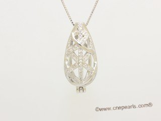 Swpm074 Sterling silver Wish pearl pendants (cages) wholesale