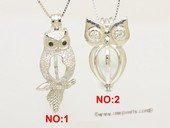 Swpm076 Wholesale Owl Design Cage Pendant in Sterling Silver