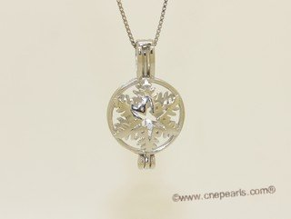 Swpm078 Sterling silver Wish pearl pendants (cages) wholesale
