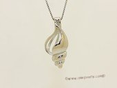 Swpm080 Sterling silver Wish pearl pendants (cages) wholesale