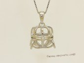 Swpm081 Sterling silver Wish pearl pendants (cages) wholesale