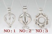 Swpm101 Sterling silver Wish pearl pendants (cages) wholesale