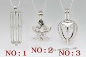 Swpm105 Sterling Silver Designer wish pearl pendant&cages wholesale