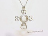 Swpm501 Large Size Cross Design Cage pendant in 925 Sterling Silver