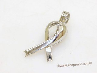 Swpm504 Large Size Ribbon Design Cage pendant in 925 Sterling Silver