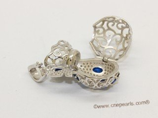 Swpm512 Sterling silver Wish pearl pendants (cages) wholesale