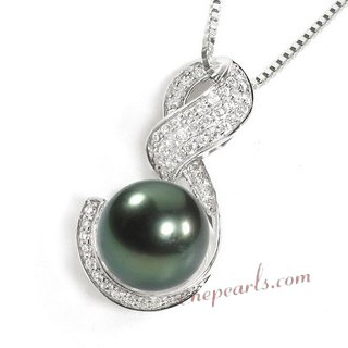 Tahiti pearl pendant necklace