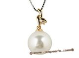 thpd020 11-12mm white South Sea Pearl & Diamond pendant