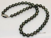 thpn013 17-inch  8.1-8.9mm black Tahiti pearl necklace