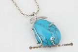 Tpd008 Fancy 25*35mm designer truquoise pendant
