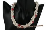 Tpn157 17inch design style low quality freshwater pearl choker necklace