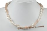 tpn194 Designer potato Pearl and nugget pearl Twisted Necklace
