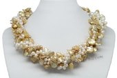 Tpn215 New style Mix Color Cultured Pearl Twisted Necklace for the Fall