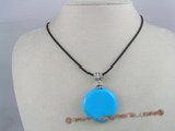 tqn003 35mm bule round turquoise pendant